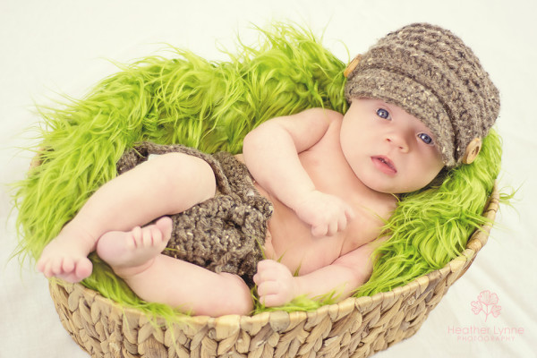 Baby Wilkins - Newsboy Hat and Basket