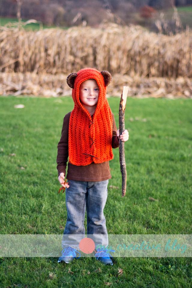 Child Ewok Scoodie – Crochet Pattern – My Creative Blog