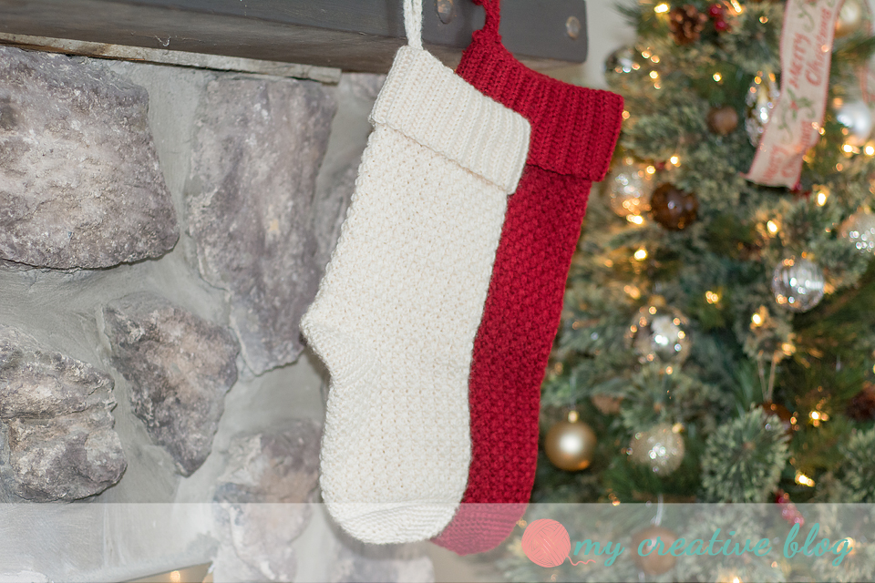 Moss Stitch Christmas Stocking Crochet Pattern My Creative Blog