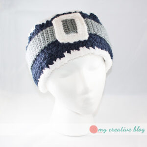 Blue and Silver Santa Earwarmer
