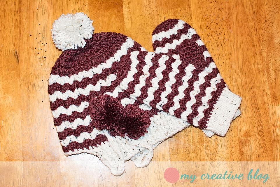 Free Crochet Zig Zag Hat Pattern : ZigZag Mittens ? Crochet Pattern ? My Creative Blog