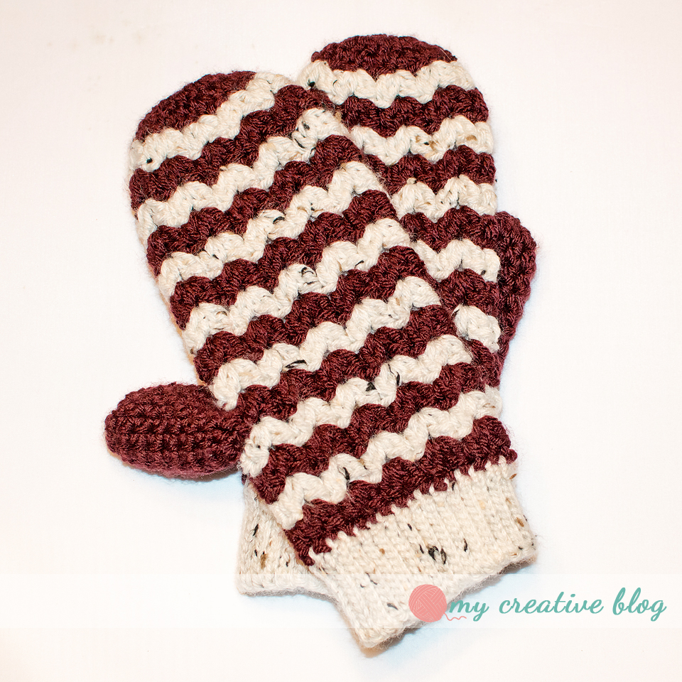 ZigZag Mittens – Crochet Pattern – My Creative Blog
