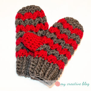 ZigZag Mittens Child Size