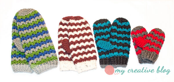 Family of ZigZag Mittens