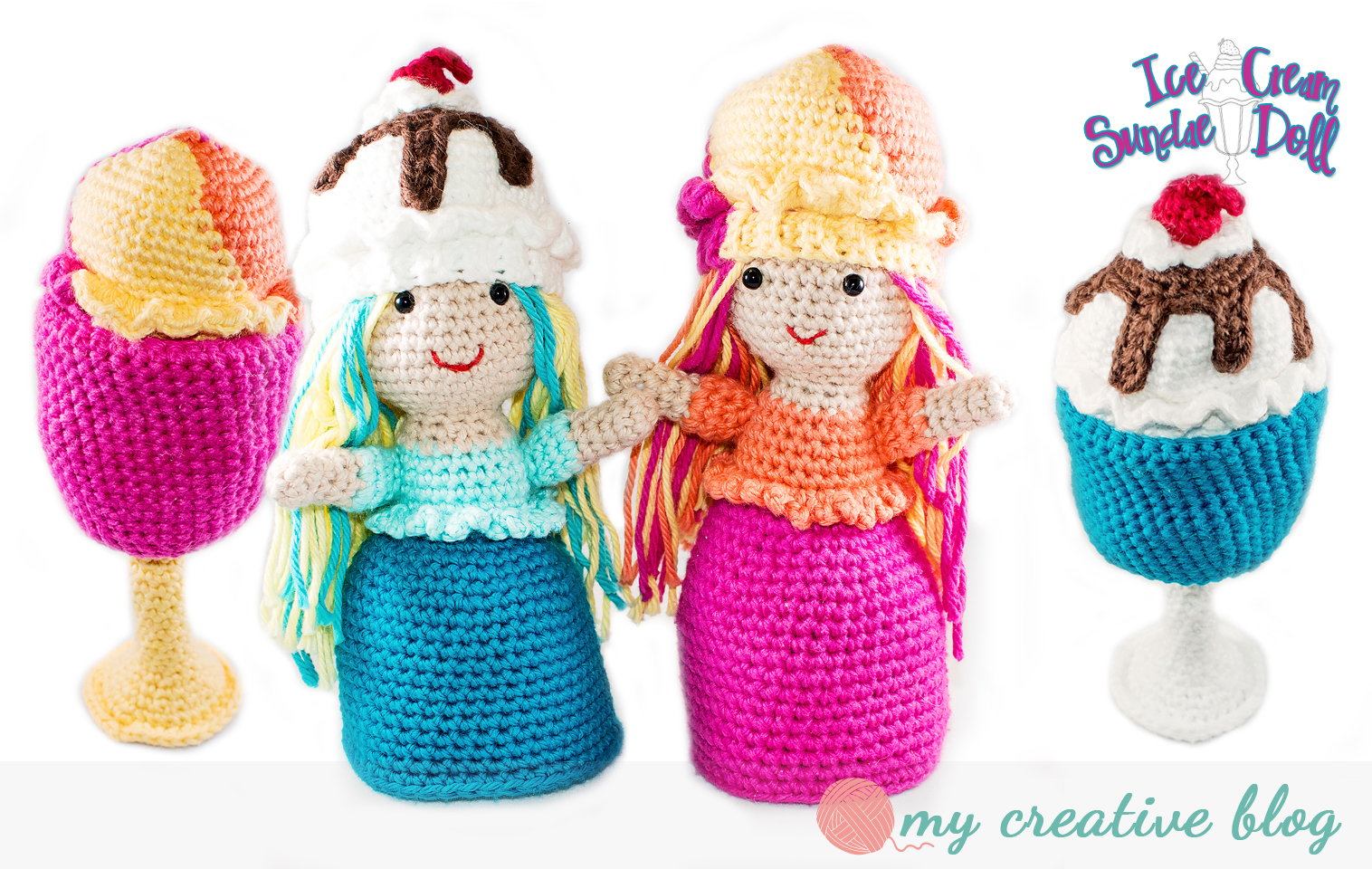 Ice Cream Snowman crochet pattern - Amigurumi Today | 960x1516