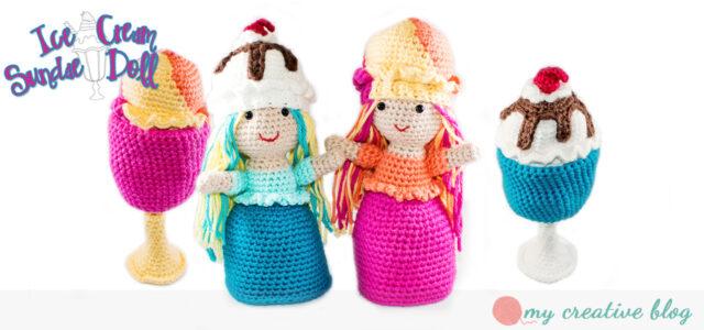 Ice Cream Sundae Doll Crochet Pattern