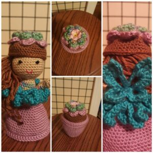 Wendy Boardman-Littlefield - Garden Fairy Flower Pot Doll