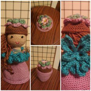 Wendy Boardman-Littlefield - Garden Fairy Flower Pot Doll