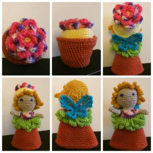 Dina Olson - Garden Fairy Flower Pot Doll