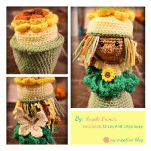 Angela Francis - Garden Fairy Flower Pot Doll