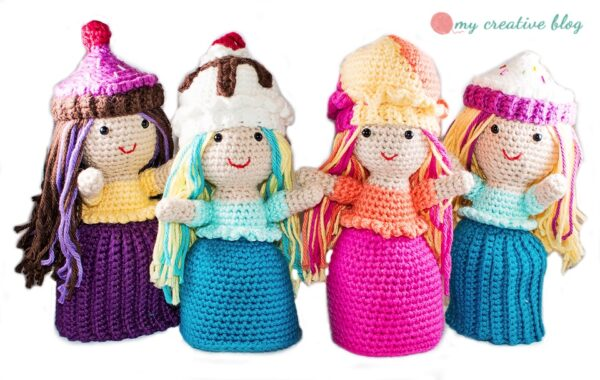 Crochet Cupcake and Ice Cream Sundae Dolls
