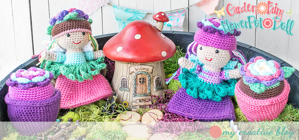 Garden Fairy Flower Pot Doll Crochet Pattern