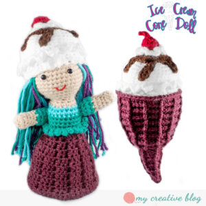 Ice Cream Cone Doll - Waffle Cone - Crochet Pattern