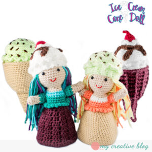 Ice Cream Cone Doll - Crochet Pattern
