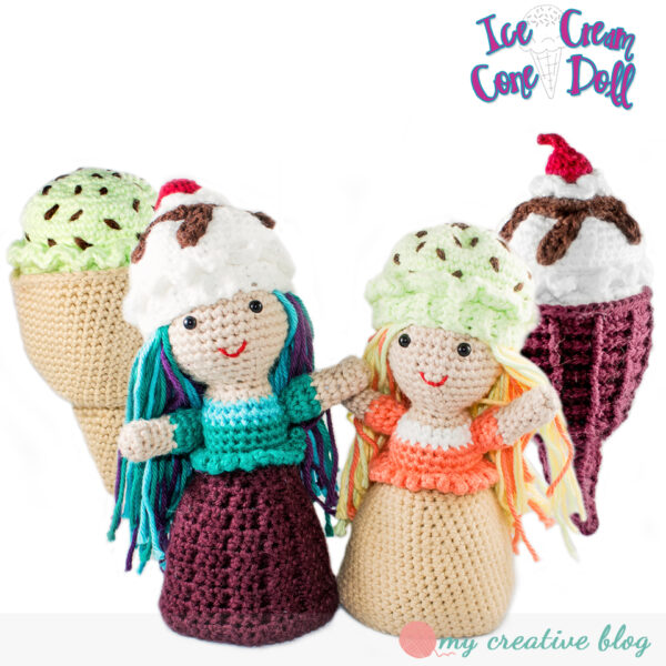 Ice Cream Cone Doll - Crochet Pattern