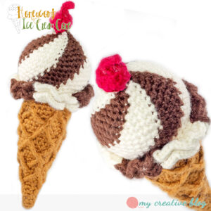 My Creative Blog - Honeycomb Ice Cream Twist Cone