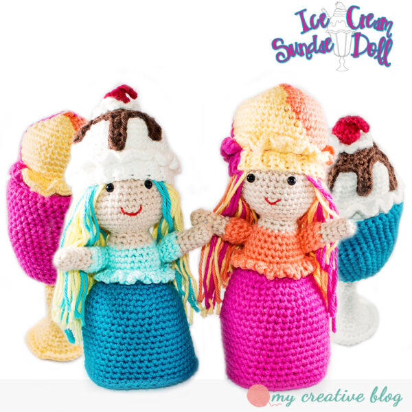 Ice Cream Sundae Doll - Crochet Pattern