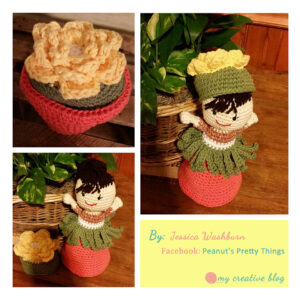 Jessica Washburn - Garden Fairy Flower Pot Doll