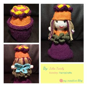 Julia Twirly - Garden Fairy Flower Pot Doll