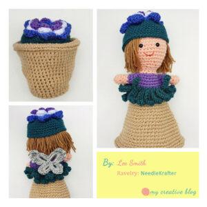 Lee Smith - Garden Fairy Flower Pot Doll