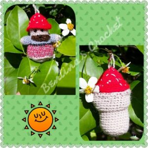 Berta Cohen - Pocket Gnome Toadstool Doll