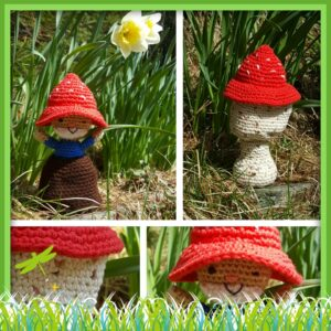 Wendy Boardman-Littlefield - Garden Gnome Toadstool Doll
