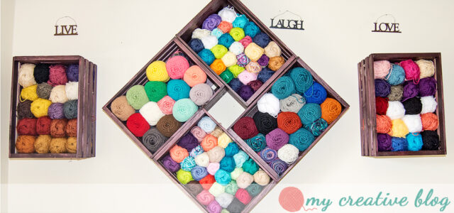 My Creative Blog - Yarn Storage with Crates