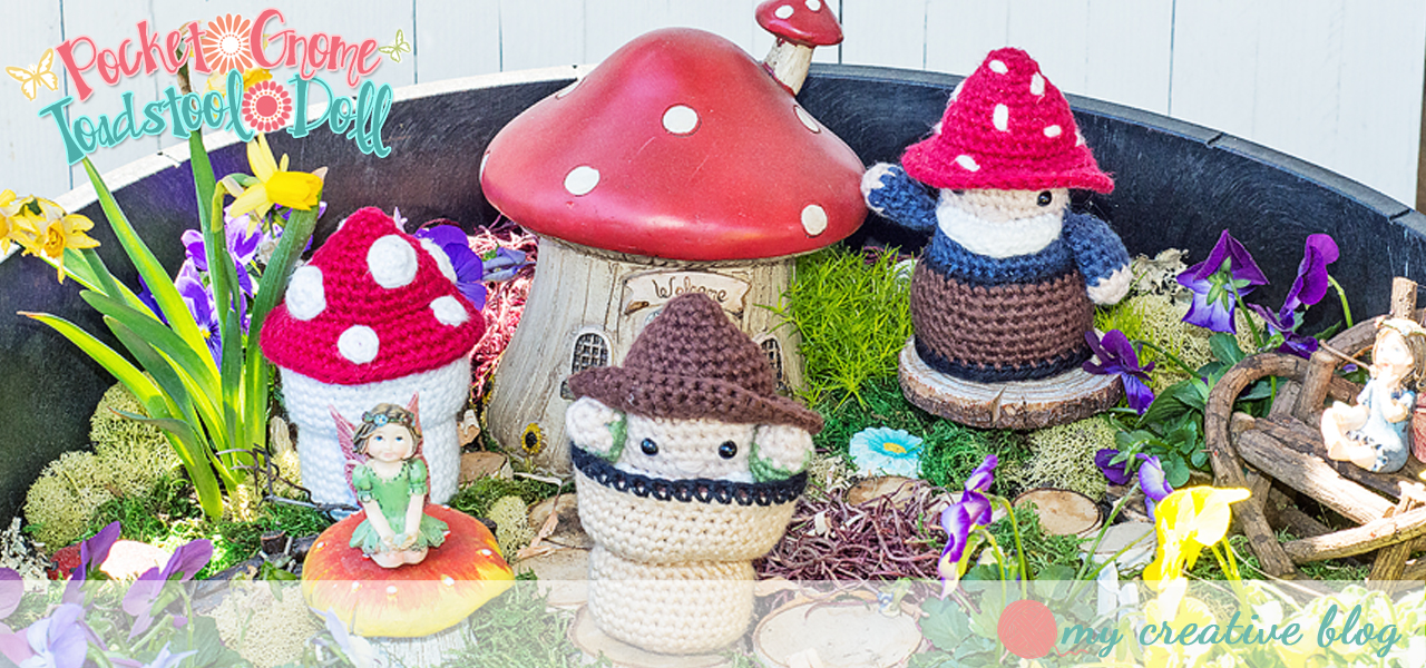Pocket Gnome Toadstool Doll