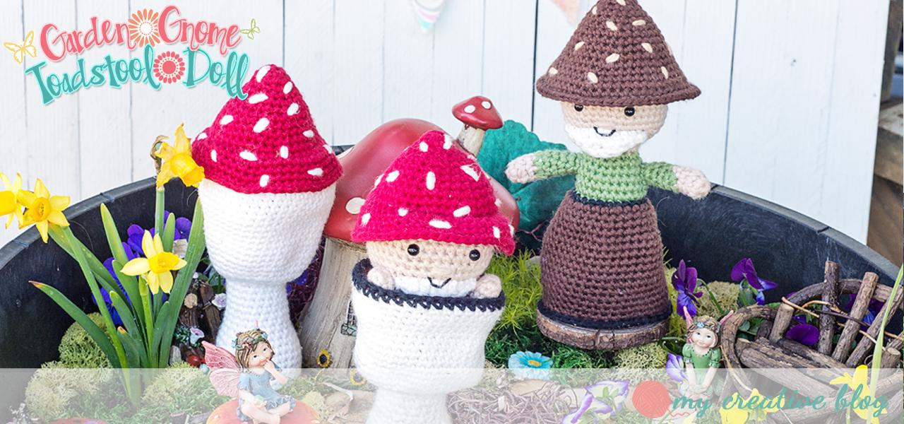 Garden Gnome Toadstool Doll Crochet Pattern