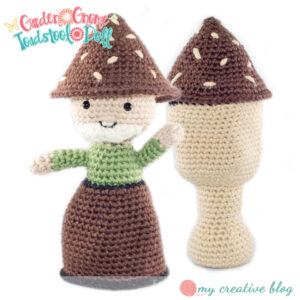 Garden Gnome Toadstool Doll
