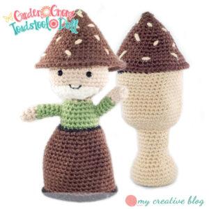 Garden Gnome Toadstool Doll