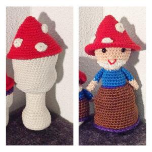 Natalie van Dalen - Garden Gnome Toadstool Doll
