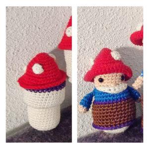 Natalie van Dalen - Pocket Gnome Toadstool Doll