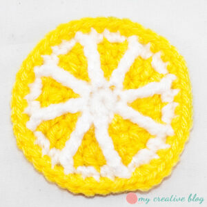 My Creative Blog - Crochet Round Lemon