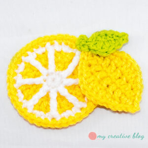 My Creative Blog - Lemon Appliques - Crochet Pattern