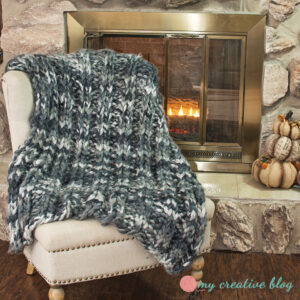 Double Ribbed Knit Throw - Knit Pattern