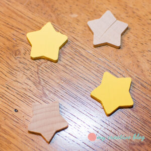 Paint wooden stars yellow.