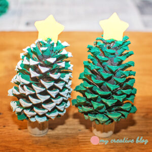 Painted Christmas Pinecone Trees