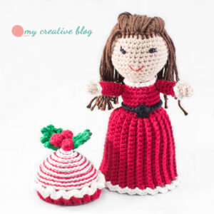 Peppermint Swirl Cupcake Doll