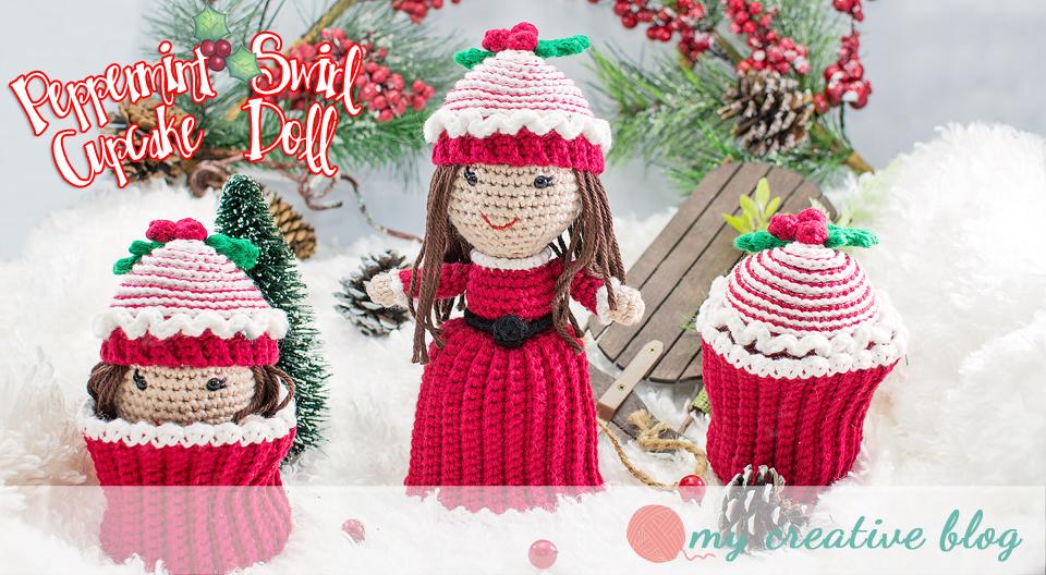 Crochet Cupcake Doll Pattern : Peppermint Swirl Cupcake Doll Crochet Pattern My ...