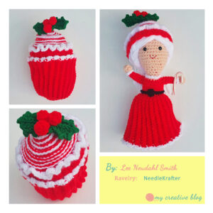 Lee Neudahl Smith - Peppermint Swirl Cupcake Doll