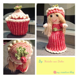 Natalie van Dalen - Peppermint Swirl Cupcake Doll