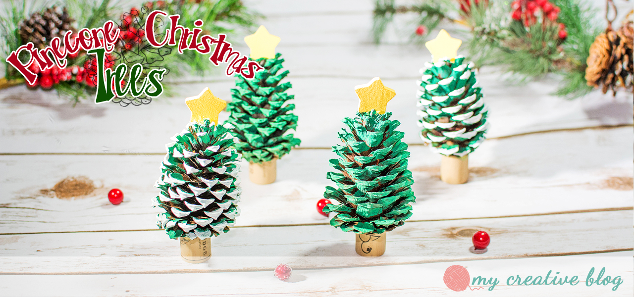 Pinecone Christmas Trees Craft
