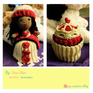 Dina Olson - Queen of Hearts Cupcake Doll