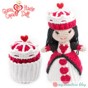Queen of Hearts Cupcake Doll