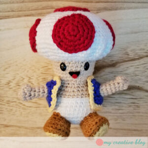 Super Mario Bros Crochet Toad