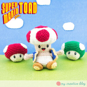 Super Mario Brothers Toad - Free Crochet Pattern