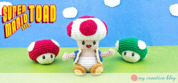 Super Mario Bros. Toad - Free Crochet Pattern