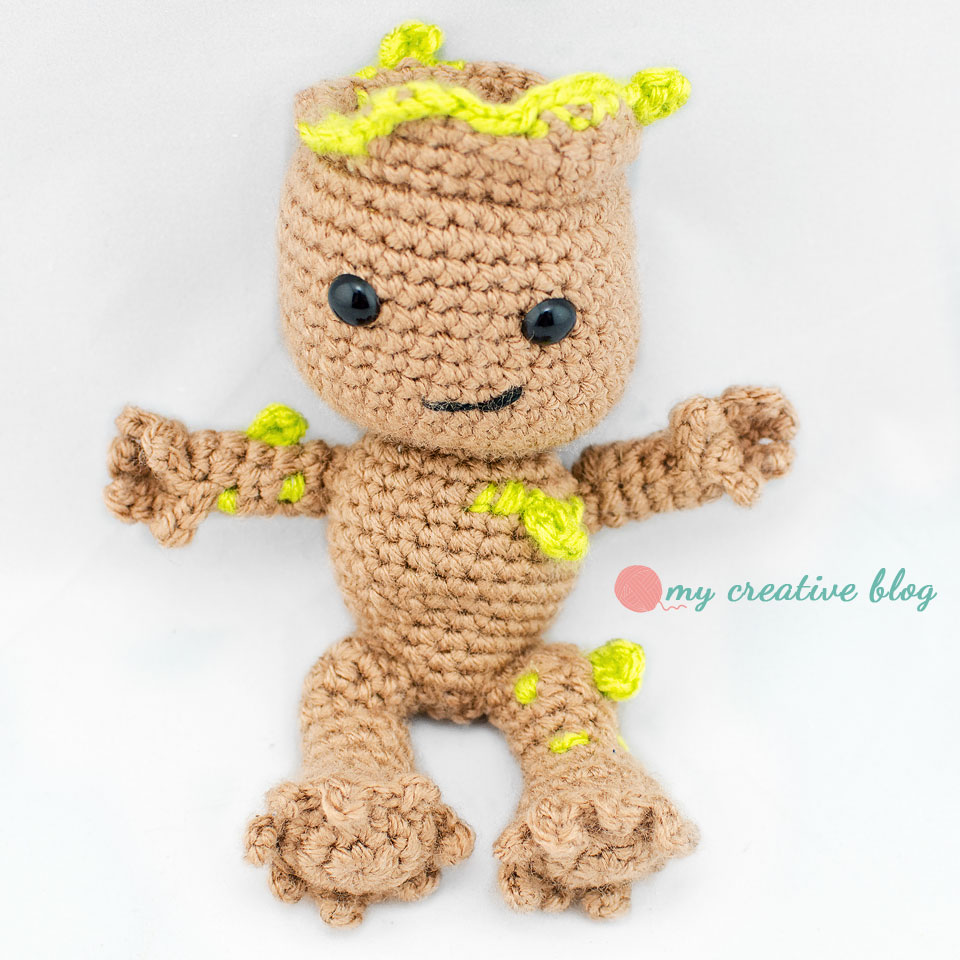 Making Baby Groot - Crochet Tutorial // duchessofcrafting - YouTube | 960x960