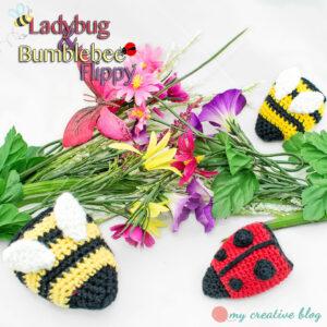 Ladybug & Bumblebee Flippy - Crochet Pattern